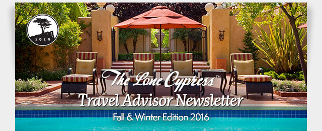 The Lone Cypress Travel Advisor Newsletter - Fall & Winter Edition 2016