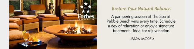 Resort Your Natural Balance at The Spa