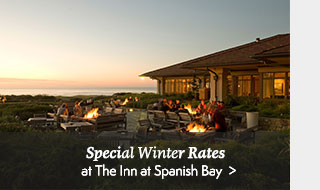 Special Winter Rates at The Inn at Spanish Bay