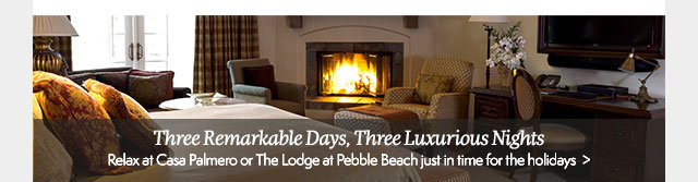 Three Remarkable Days, Three Luxurious Nights