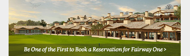 Be one of the first to book a reservation for Fairway One