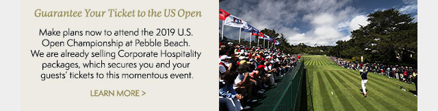 Corporate Hospitality Packages available for the 2019 U.S. Open Championship