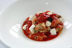 Spinach Ricotta Gnocchi with Italian Cherry Tomatoes
