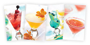 Fun and fanciful featured drinks at The Terrace Lounge.