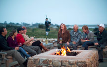 The fire pits at The Inn at Spanish Bay