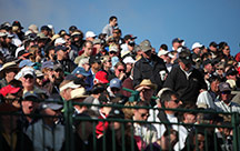 Spectators at the AT&T Pebble Beach National Pro-Am