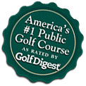 America's #1 Public Golf Course as rated by Golf Digest.