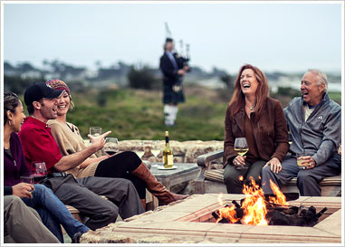 Spanish Bay Fire Pits and Bag Piper