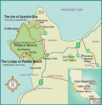 Map of Pebble Beach