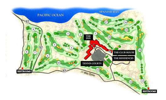 The Links at Spanish Bay Map