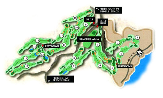 Map of Spyglass Hill Golf Course