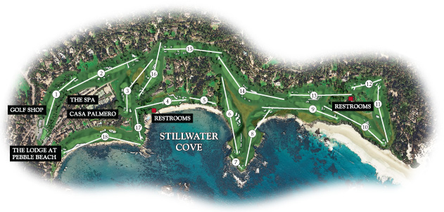 Map of Pebble Beach Golf Links