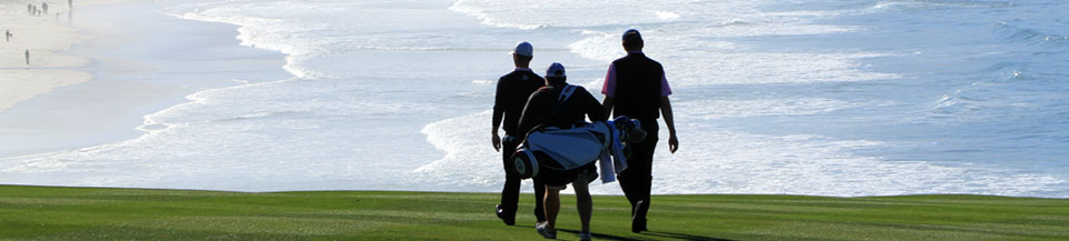 Golfers on Pebble Beach Golf Links